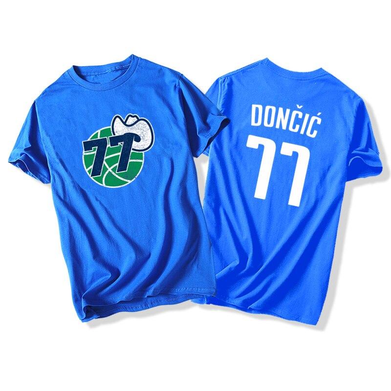 Luka Doncic Basketball T-Shirt Cotton TShirt NO.77 Doncic TShirts Casual Summer Sports TShirt Hip Hop Streetwear Harajuku Shirts