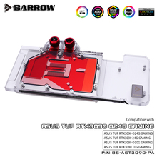 Header Support Backplate BARROW Water-Block RTX3080 Gpu-Card Asus Tuf Original Aurora
