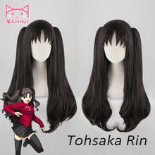【Anihut】tohsaka Rin Pruik Fate Grand Order Cosplay Pruik Fgo Cosplay Tohsaka Rin Lange Steil Haar