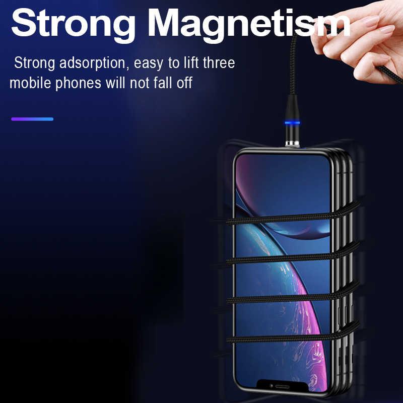 Magnetic USB Kabel untuk Iphone Samsung Huawei Android Ponsel Pengisian Cepat Universal Mikro Tipe C Iphone USB