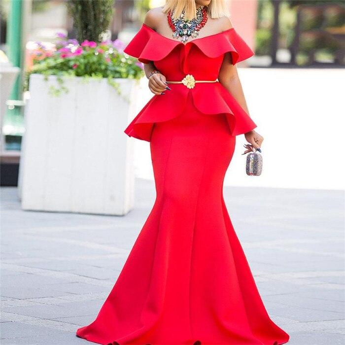 2019 sukienki afrykańskie dla kobiet afrykańskie ubrania Maxi długa sukienka afryka sukienka elegancka dama suknia w stylu syreny