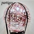 Сделай Сам Свадьба День Рождения Декор конфетти баллон из гелий прозрачный ПВХ пузырьки БОБО шарики для день рождения вечеринка Декор перо