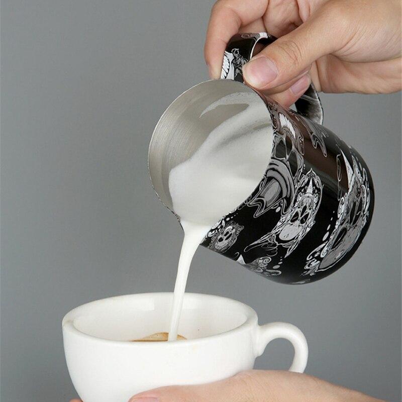 Кувшин из нержавеющей стали с антипригарным покрытием, кувшин для вспенивания молока, эспрессо, кувшин для Кофе Barista Craft, кувшин для латте, кувшин для молока, Кофе M