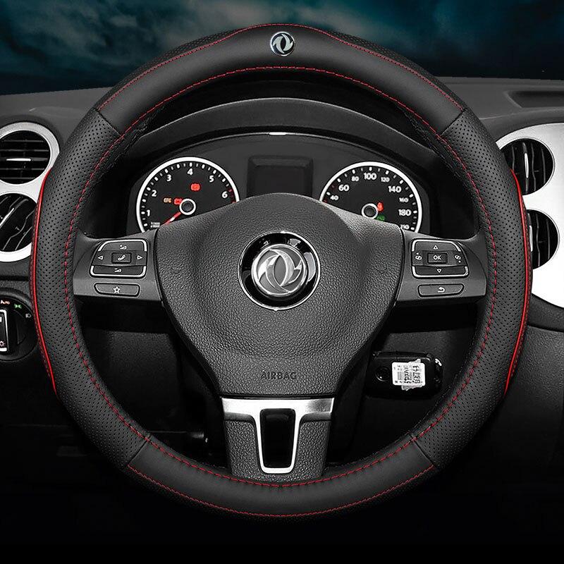 Pas d'odeur mince voiture en cuir véritable couvre-volant pour DongFeng DFM AX7 AX4 AX5 A60 A9 S30 E30 E70 H30 A30 AX6 accessoires