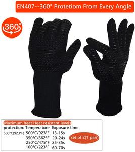 Image 2 - WALFOS  Heat Resistant BBQ grill Gloves  Premium Insulated Durable Fireproof For Cooking Baking Grilling Oven Mitts
