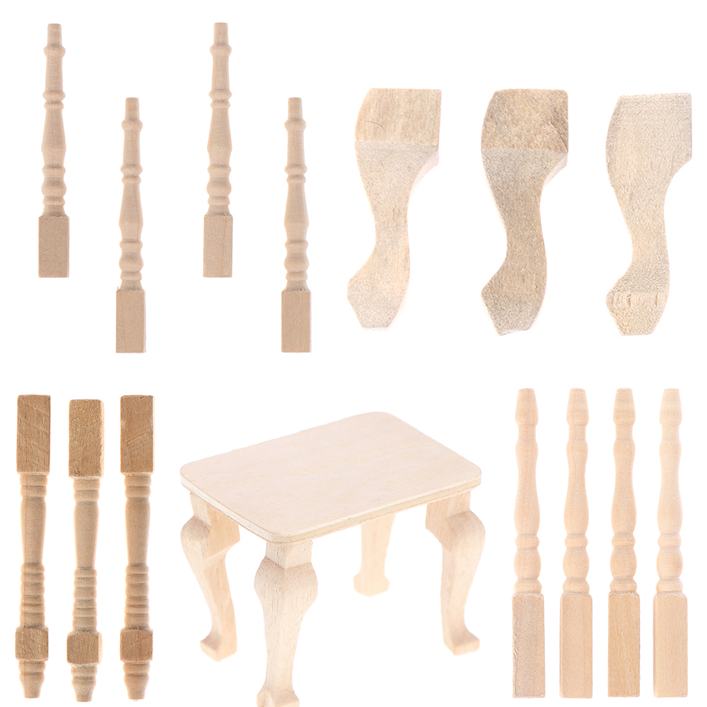 Wooden Furniture Leg Chair Table Brain Legs Knitting Table Mat 1:12 Scale Miniature Furniture Decoration For Dollhouse Model Toy