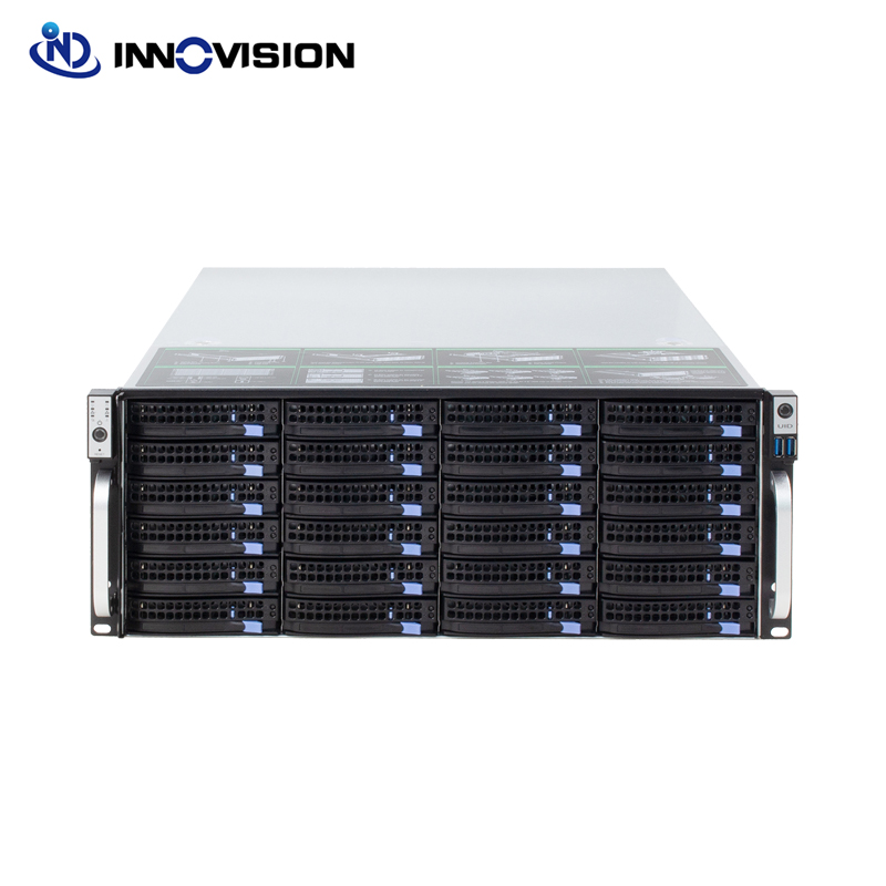 Super Huge Storage 4u 24 Bays Hotswap Rack NVR NAS Server Chassis S46524 With 6GB Sata Backplane