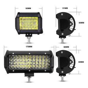 Image 5 - Nlpearl 72W 144W Light Bar/Work Light Spotlight LED Light Bar for Truck Driving Offroad Boat Car Tractor 4x4 SUV ATV 12V 24V