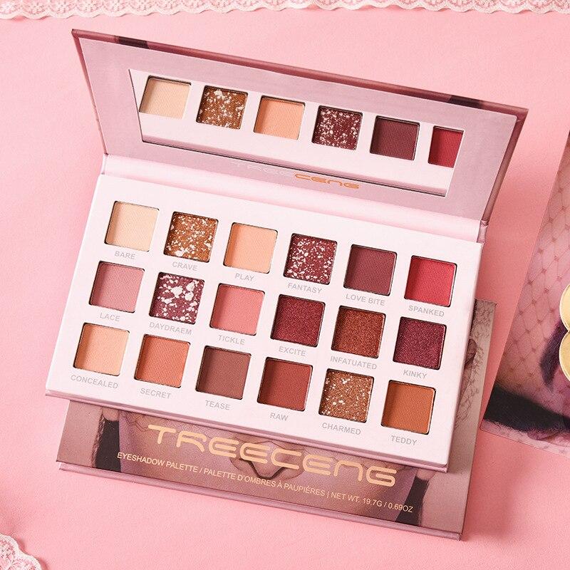Neue 18 Farbe Nude Glänzende Lidschatten Perlglanz Make-Up Glitter Pigment Rauchigen Lidschatten Pallete Wasserdicht Kosmetik
