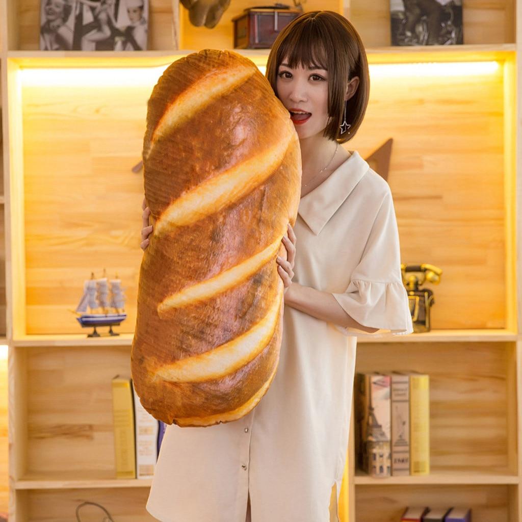 40/60/80 см 3D плюшевая подушка подарок мягкие чучела с презентабельным видом: спинка, подарок на день рождения забавные имитация закусочный хле...