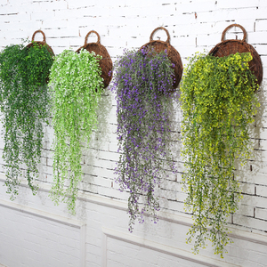 New 80cm Artificial Fake Silk Flower Vine Hanging Garland Plant Green Leaves Home Garden Wedding Party Decoration Dropshipping