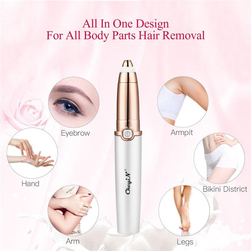 CkeyiN Mini USB Rechargeable Electric Eyebrow Trimmer Bar Face Hair Removal Pen Lady Shaver Leg Arm Bikini Hair Shaving Razor