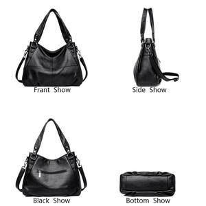 Image 3 - 2019 peau de mouton en cuir de luxe sacs à main femmes sacs concepteur dames main bandoulière sacs pour femmes fourre tout Sac à bandoulière pour filles Sac