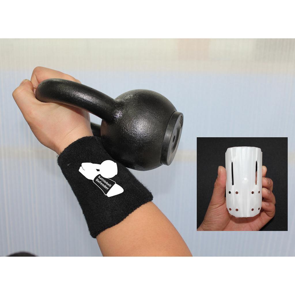 1 Pair Black Athletics Kettlebell Wrist Guards Defender Brace Protector Wrap For Adults Women Men