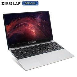 Ordenador portátil ultrafino ZEUSLAP 15,6 pulgadas Intel Quad CPU 8GB RAM hasta 1TB SSD Win10 WIFI de doble banda 1920*1080P FHD