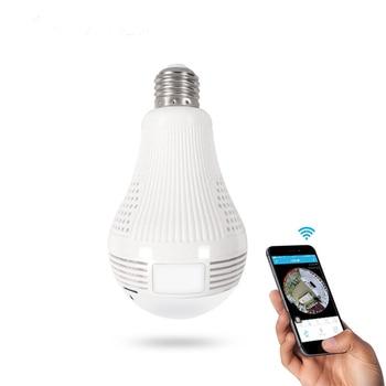 цена на sptsp 960p/1080P 360 Security wifi Camera Lamp Panoramic Bulb IP CCTV Video Surveillance Fisheye HD Night Vision Two Way Audio