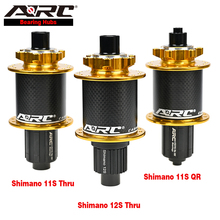 цена на ARC MTB Hub Loud Sound 114 Clicks Full Carbon Front 2 Rear 4 Bearing Hub 32H Mountain Bike Hub 8 9 10 11 12 Speed Bicycle Parts