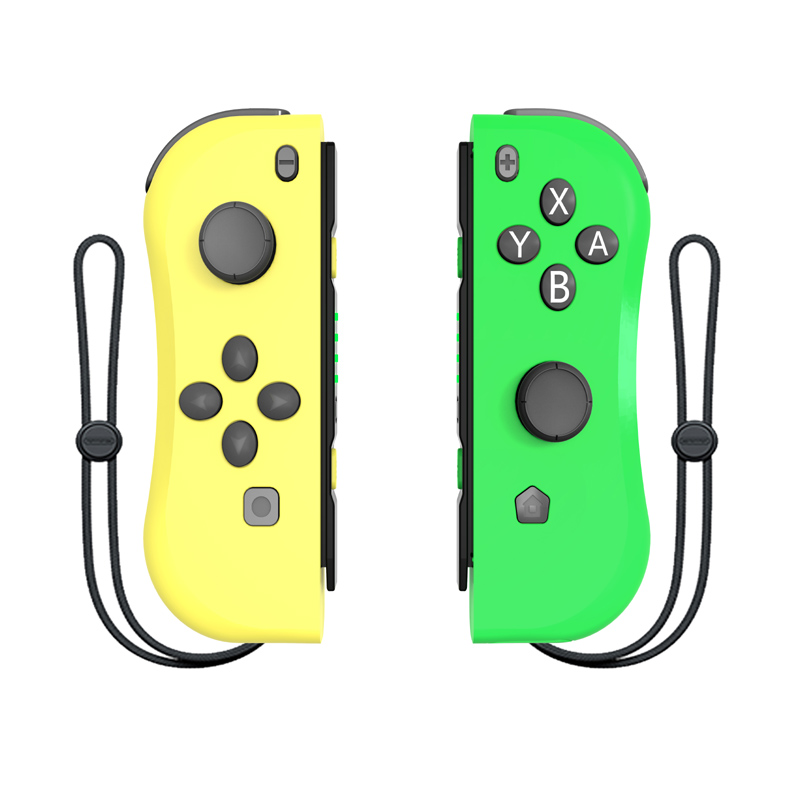 Yellow and green For NS Joy-Con (L/R) Wireless Bluetooth Game Controllers 11 color Gamepad Joystick for Nintend Switch Console