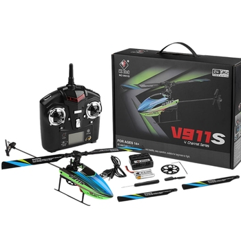 WLTOYS V911S 2.4G 4CH 6-Aixs Gyro Remote Control RC Helicopter Single Propelller Remote Controller Kid Gift Toys RTF Upgrade V91