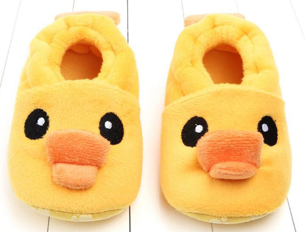 SandQ Baby Boots Newborn Yellow Ducks Girls Infant Shoes Prewalkers Crib Nonslip Fur 2019 Winter Warm Indoor Baby Boys Boot Cute