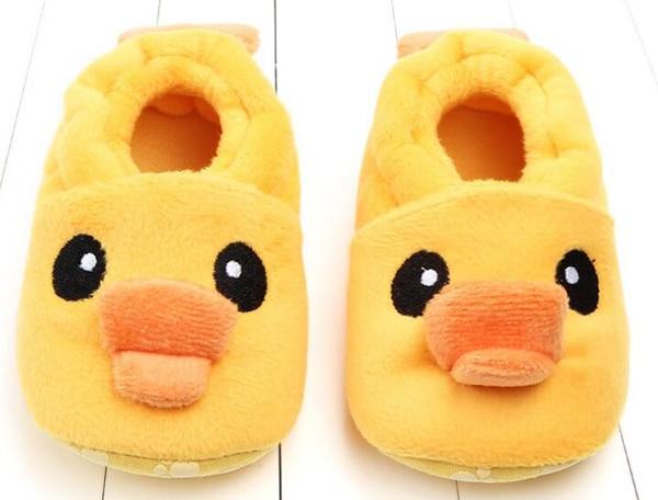 SandQ Baby Boots Newborn Yellow Ducks Girls Infant Shoes Prewalkers Crib Nonslip Fur 2019 Winter Warm Indoor Baby Boys Boot Cute
