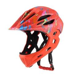 Kid LED Mountain Mtb Road kask rowerowy odpinany Pro ochrona dzieci całą twarz rower Cascos Ciclismo kask rowerowy