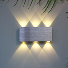 Fixture Wall-Lighting-Light Wall-Lamp Bedside LED Up-And-Down Living-Room Aluminum Corridor