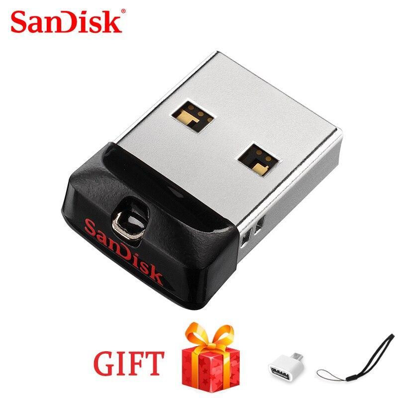 SanDisk USB 2.0 CZ33 Mini Pen Drives 64GB 32GB 16GB 8GB USB Flash Drive Stick U Disk USB Key Pendrive Freeshipping  100% Origina