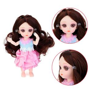 Image 2 - NEW 1Pcs 16CM/6.3IN Silicone Small Pudding Princess Doll Mini Simulation BJD Doll Not Clothes With 3D Acrylic Beauty For Girls