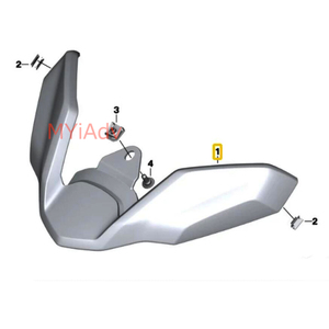 Image 3 - New For BMW R1250GS R1200GS LC ADV R 1250 GS Adventure LC 2017 2019 Motorcycle Front Beak Fairing Extension Wheel Extender Cover