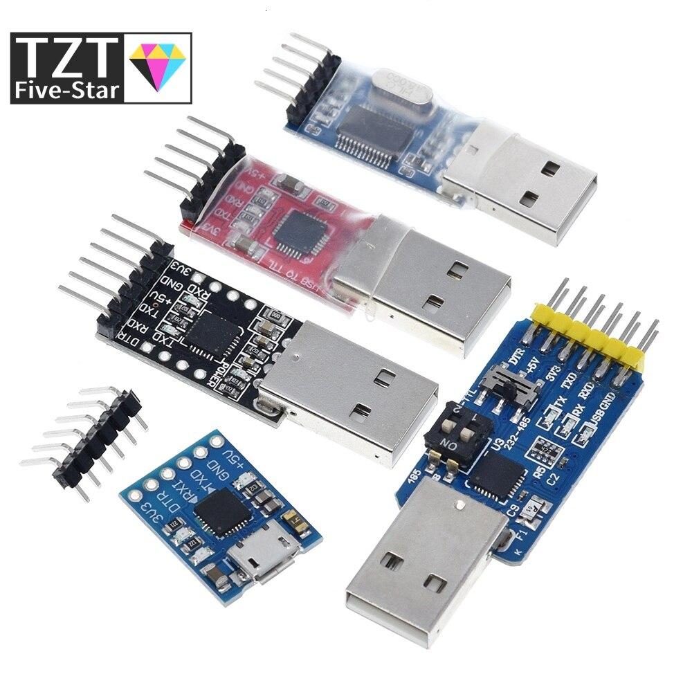 Cp2102 usb 2.0 para uart ttl 5pin conector módulo serial conversor stc substituir ft232 ch340 pl2303 cp2102 micro usb para aduino