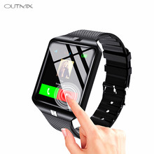 OUTMIX DZ09 Smartwatch smart Watch cyfrowy mężczyźni zegarek dla Apple iPhone Samsung z systemem Android telefon komórkowy Bluetooth SIM TF kamera karty(China)