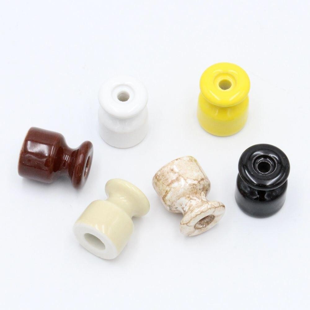 10/50Pcs Fiação do Isolador de Porcelana para a Parede de Cerâmica Isolante Elétrico com Parafuso