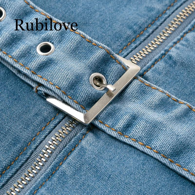 Rubilove Blue denim rompers women jumpsuit short sexy bodycon autumn streetwear jeans playsuit Female fashion party club overall in Rompers from Women 39 s Clothing