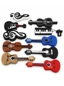 Usb-Stick Guitar Violin-Note Pendrive Musical-Instrument Text Me Cartoon Cute 16GB 8GB