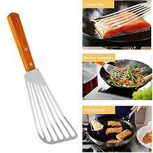 25 # rzeczy kuchenne stek szpatułka z otworami łopata łopatka rybna wielofunkcyjne narzędzia do grillowania ze stali nierdzewnej
