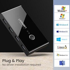 Image 5 - Ugreen USB KVM التبديل USB 3.0 2.0 الجلاد ل شاومي Mi صندوق لوحة المفاتيح ماوس طابعة مراقب 2 قطعة تقاسم 4 أجهزة USB التبديل