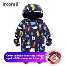 Ircomll Pasgeboren Kids Jumpsuit Baby Rompertjes Winter Dikke Warme Kid Baby Meisjes Jongens Baby Kleding Camo Bloem Hooded Baby Outfit
