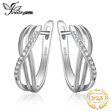 Feelcolor Top Quality Cubic Zirconia Earrings Clip 925 Sterling Silver Infinity Jewelry Fashion Wedding Gift For Women 2016 New колье цепь feelcolor jewelrypalace 925 16 18 xl8007 a01