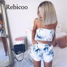 Women's Sexy 2 Piece Floral Print Mini Dress and 7-Point Open Back Top Fashion 2019 Button Vest Shorts Set tribal print open back mini bodycon dress