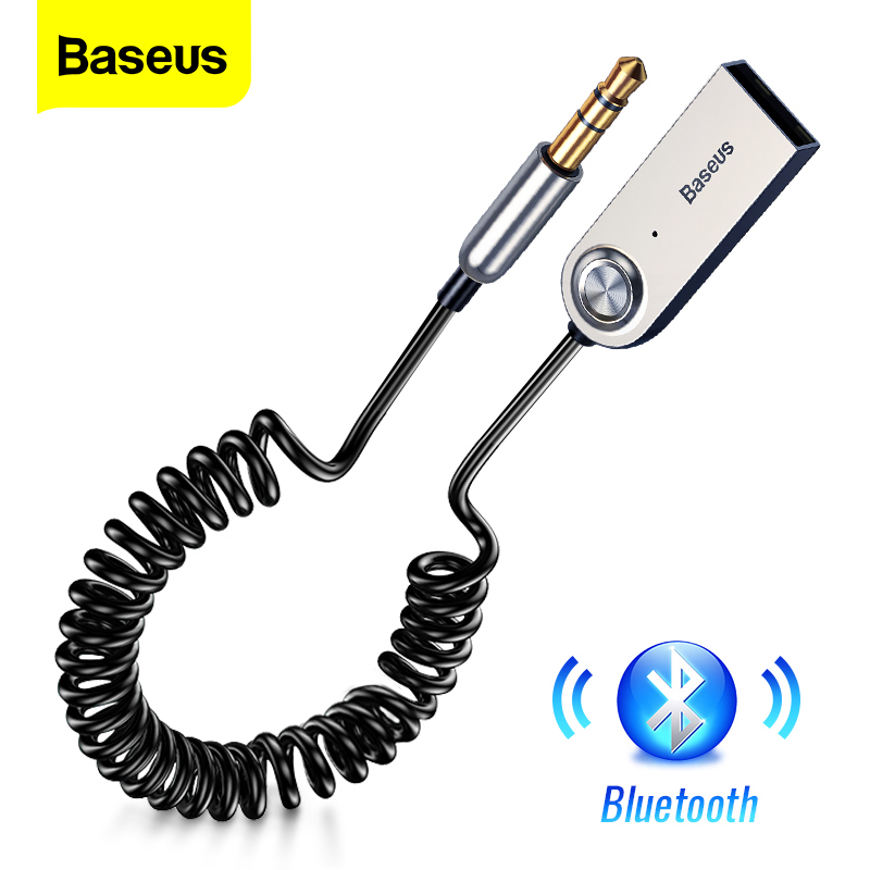 Baseus Aux Bluetooth Adapter Dongle Cable For Car 3.5mm Jack Aux Bluetooth 5.0 4.2 4.0 Receiver Speaker Audio Music Transmitter(China)