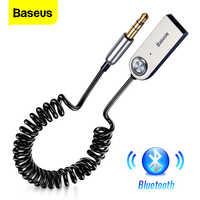 Baseus aux adaptador bluetooth dongle cabo para carro 3.5mm jack aux bluetooth 5.0 4.2 4.0 receptor alto-falante áudio transmissor de música