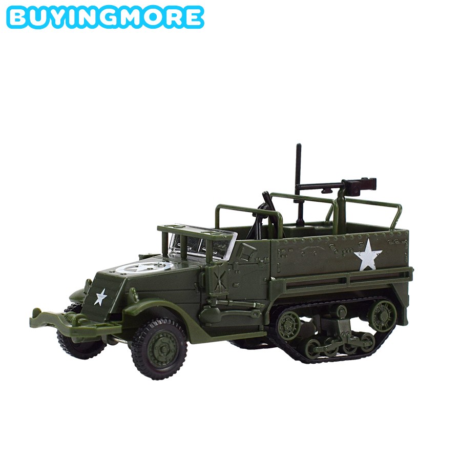 1 PCS Assembly Model Car 1:72 M3 HALF TRACK Armored Vehicle Plastic Model Kits Military Classic Toys For Boys Gift Building Kit