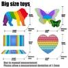 Large 50/40/30 CM Size Fidget Toys Push Bubble Anti-Stress School Bag Board Pendant Adult Decompression Toy Children Autism Need