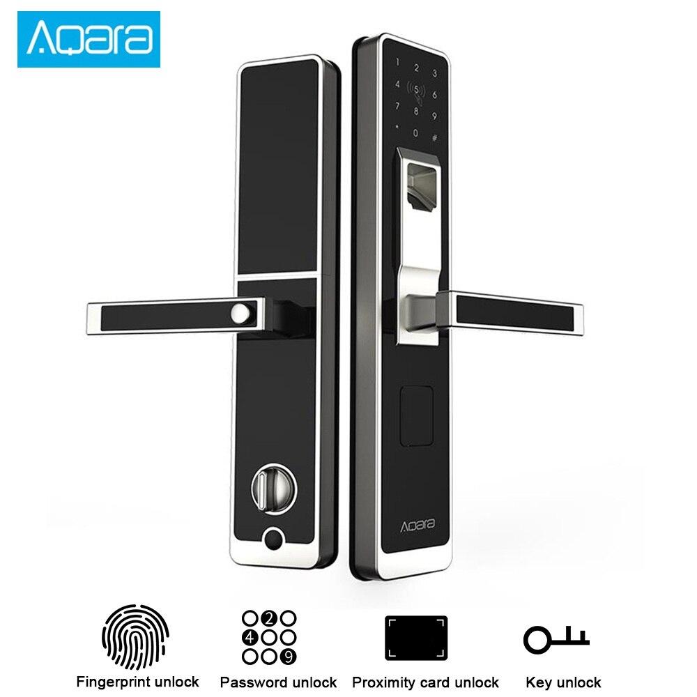 Aqara inteligente porta toque bloqueio zigbee conexão para casa segurança anti-peeping design trabalho com mi casa app suporte ios android