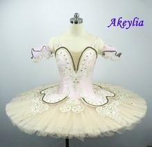 Adult Sleeping Beauty Peach Pink Professional Ballet Tutu Girls Classical pancake