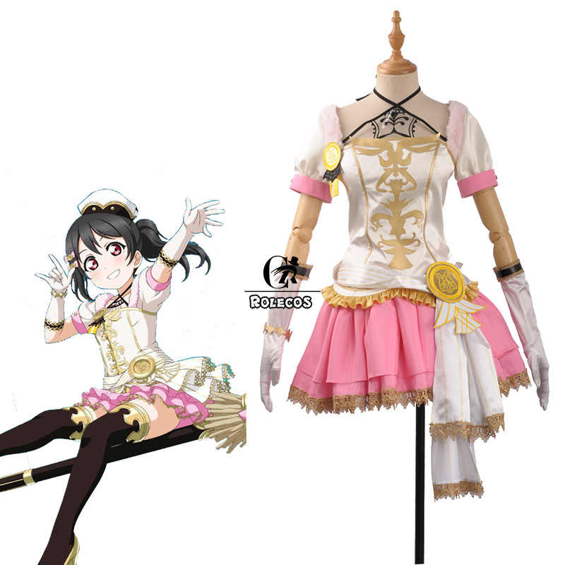 Rolecos Anime Love Live Cosplay Kostum Penyihir Halloween Gaun Umi Kousaka Honoka Minami Kotori Ayase Eli Rin Kostum
