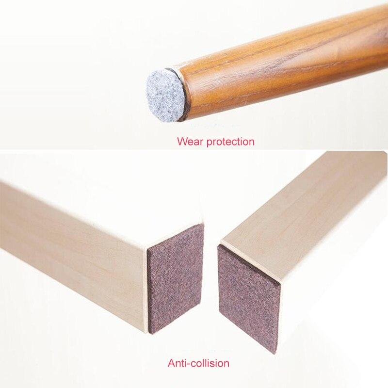 Self Adhesive Chair Leg Pads Floor Protectors For Furniture Legs Table Leg Covers Anti-Slip Pads Rubber Feet Furniture Hardware