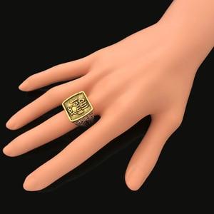 Image 4 - 빈티지 중동 코란 알라 토템 조각 손가락 반지 금속 고대 골드 실버 컬러 아랍 이슬람 이슬람 종교 쥬얼리