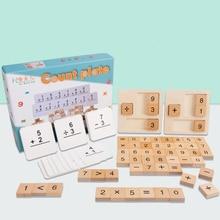 Zabawki drewniane Montessori matematyka zabawka matematyczna dodatek odejmowanie podział mnożenia liczba nauka edukacja prezenty dla dzieci